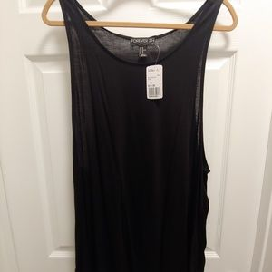 Forever21+ Black Sleeveless Knit Top